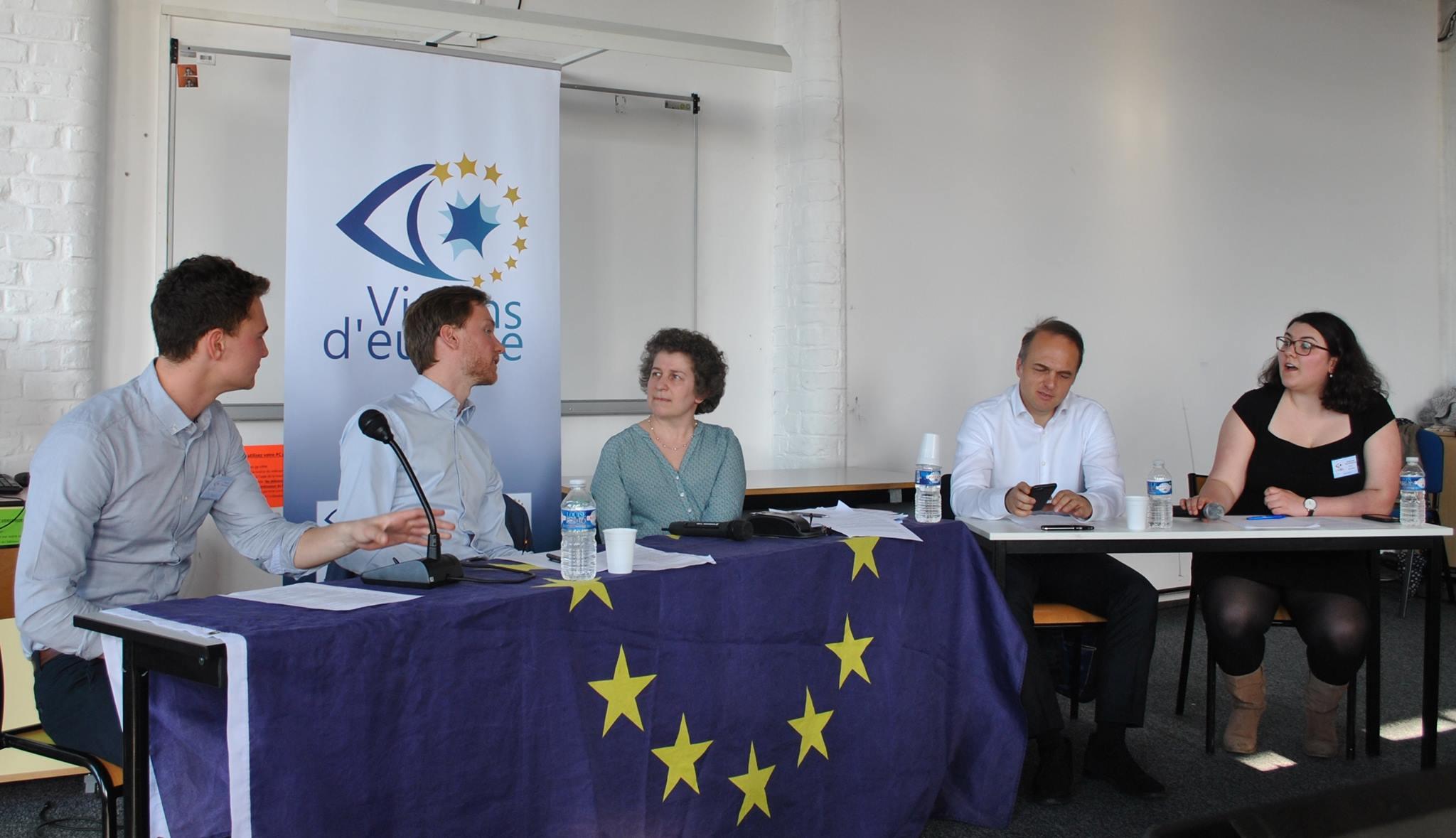 Conférence sur le Brexit organisée par Visions d'Europe, en compagnie de Olaf Henrcson-Bell ; Yves Bertoncini et Catherine Mathieu