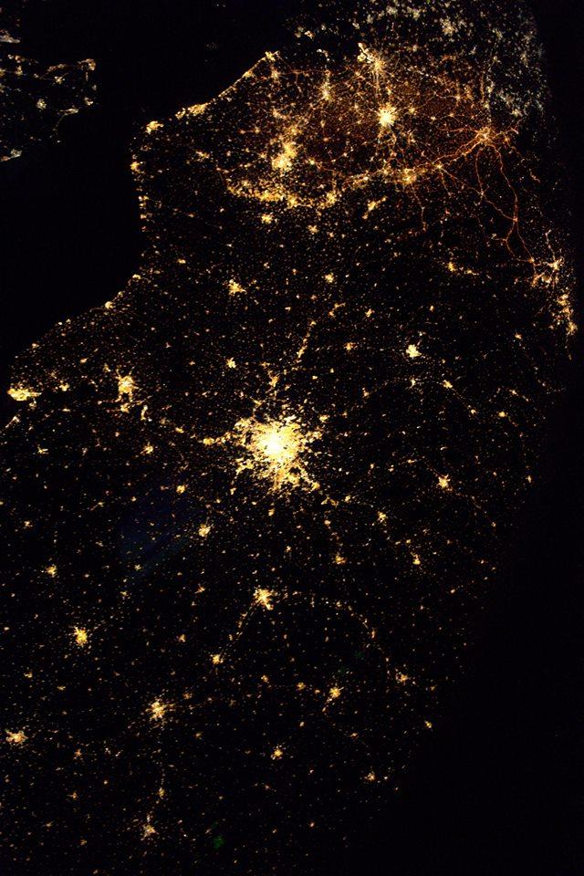 Amiens vue de l'espace ! Crédit photo : Thomas Pesquet