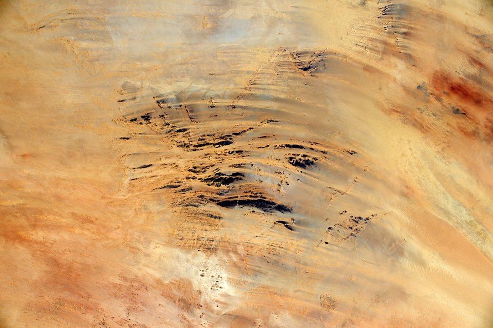 Le désert. Crédit photo : Thomas Pesquet