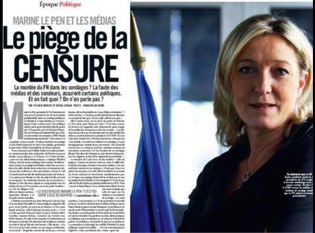 """Article paru dans """"VSD"""" en mars 2011. En sous titre : """"La montée du FN dans les sondages ? La faute des médias et des sondeurs, assurent certains politiques. Et on fait quoi ? On n'en parle pas ?"""""""