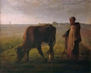 Femme faisant paître sa vache, 1858