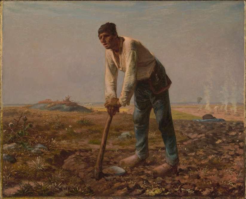L'homme à la houe, vers 1860-1862