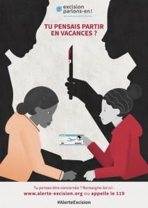 """Affiche de prévention contre l'excision, par """"Excision, parlons-en!"""""""