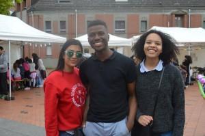 Vidya, Abdoulbar et Katy, pôle solidarité du BDE