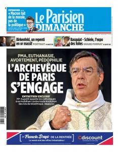 © Une du Parisien, le 30 septembre 2018