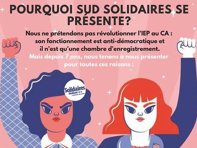 affiche tiré de la page facebook de SUD Solidaires