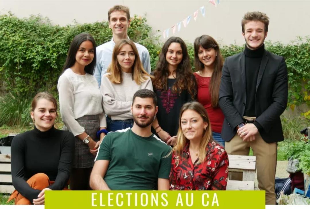 l'équipe d'Alter'Eco se présentant aux élections pour le CA